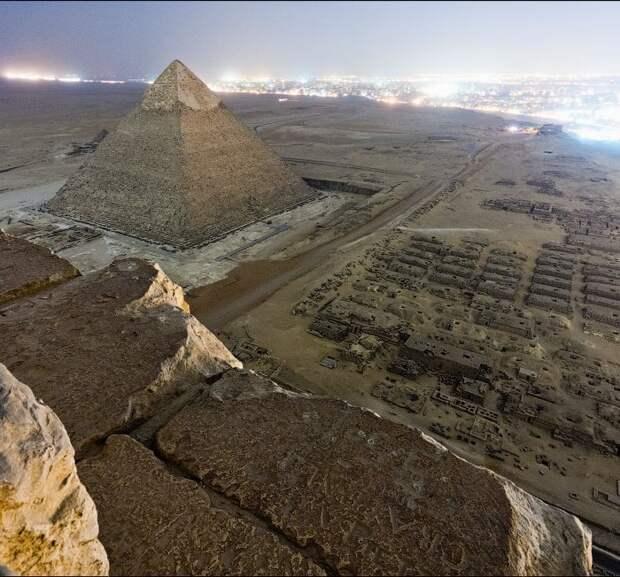 Фотография с вершины пирамиды Гизы жизнь, интересные, фото