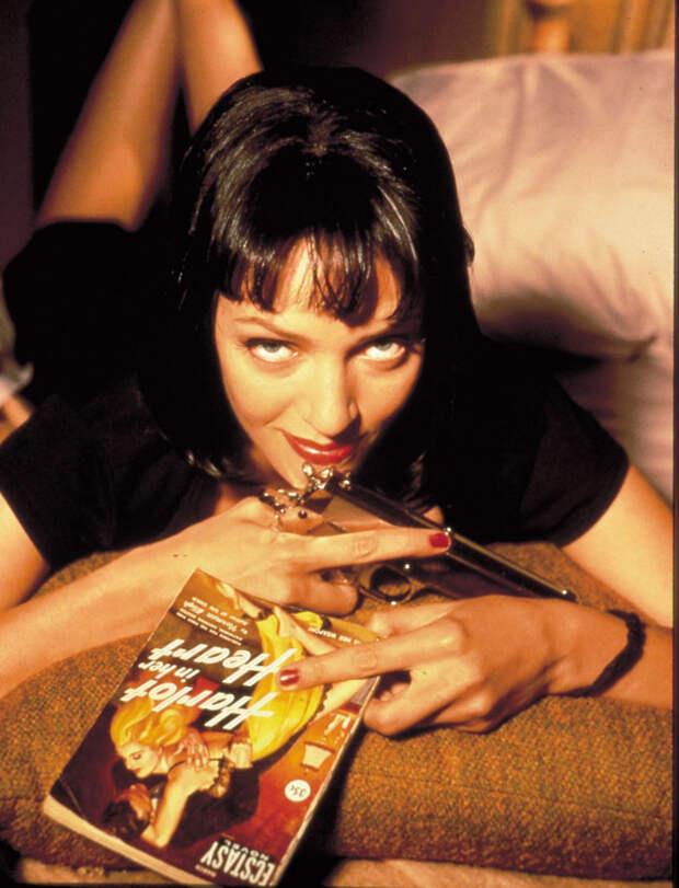 Ума Турман (Uma Thurman) в фотосессии Фируза Захеди (Firooz Zahedi) для фильма Pulp Fiction (1994), фото 5