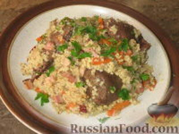 Фото приготовления рецепта: Кулеш с зайчатиной - шаг №6