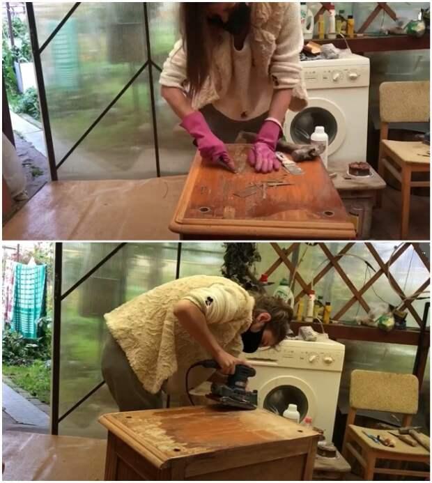 Неожиданное применение старой тумбочки, выброшенной на помойку