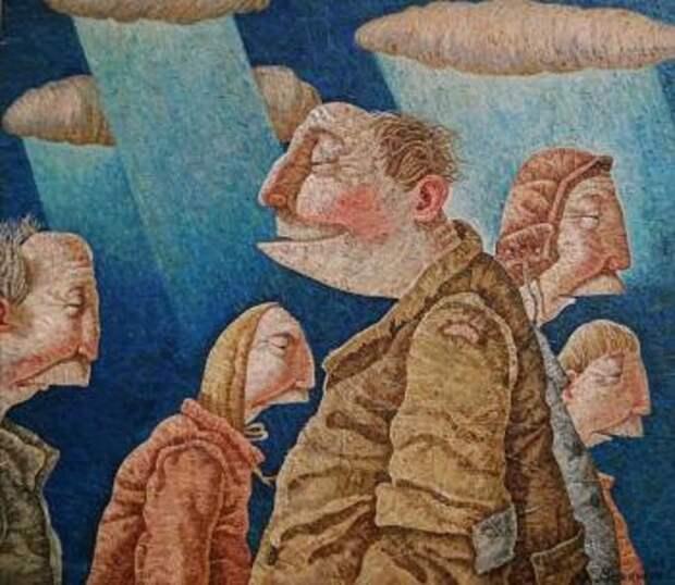 Человек дождя. Живопись от Меренкова Сергея.