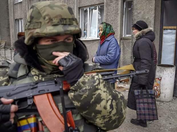 На совместных с НАТО учениях ВСУ отрабатывают действия по подавлению мирного населения