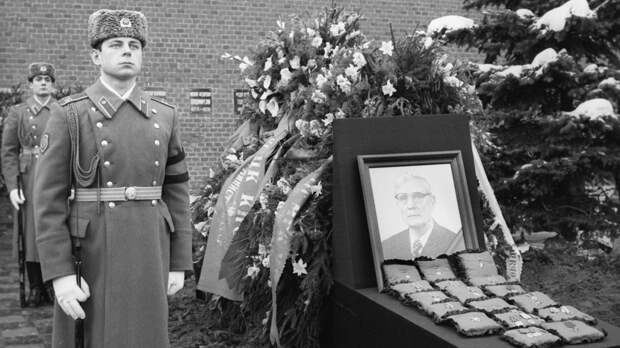 Церемония похорон Михаила Суслова. Москва, Красная площадь. Фото: © РИА Новости/В. Акимов