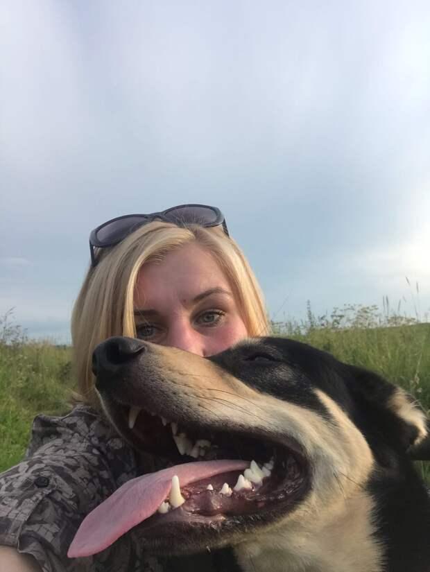 пёс с хозяйкой