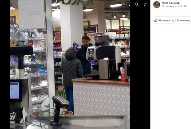 В супермаркете на Зеленодольской заметили малолетнего попрошайку
