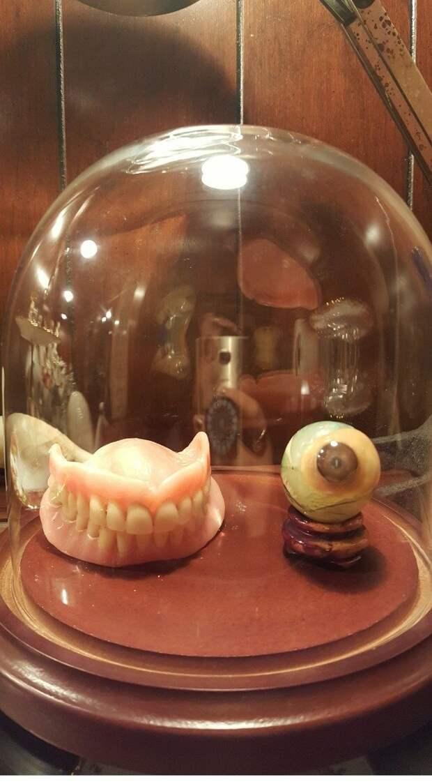Некоторые хранят зубы и стеклянный глаз именно так необычные вкусы, отцы и дети, родители, родительский дом, смешно, странные вещи, что это такое: загадочные предметы, юмор