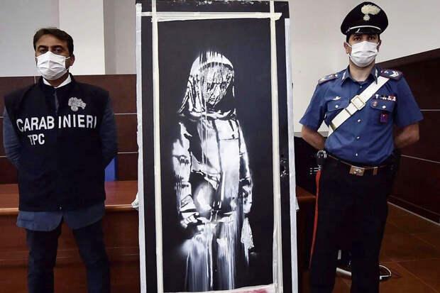 Шесть человек задержаны по подозрению в краже работы Бэнкси в Париже