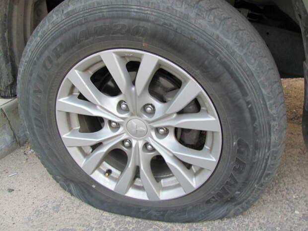 Если колесо спущено: как долго можно проехать