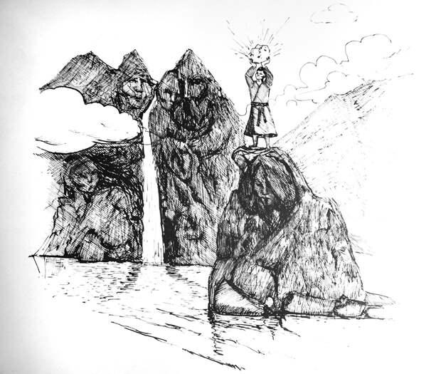 Рисунок художника Олеси Васильевой к легенде.