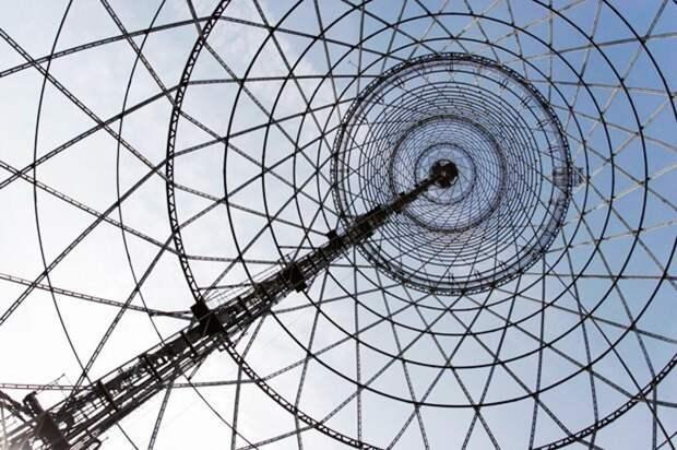 Шуховская телебашня. Вид изнутри
