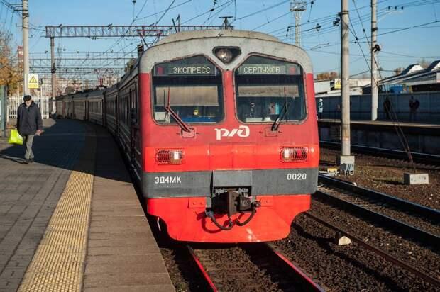 Электричка насмерть сбила мужчину неподалеку от станции Серпухов