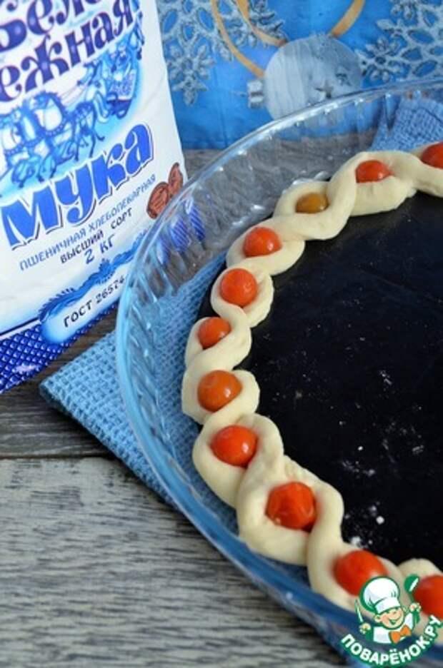 Пирог «Новогодняя гирлянда»
