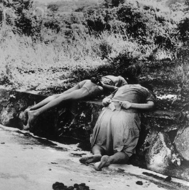 Central American Victims Lying on Roadside