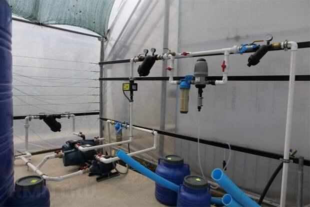 Система водоподготовки и управления автополива в теплице
