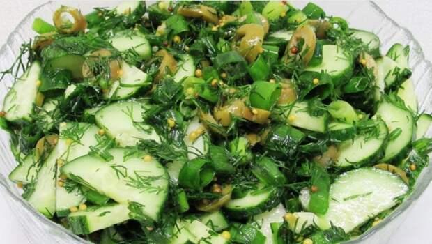 Бери огурцы и делай салат на ужин. Огуречный салат за минутку