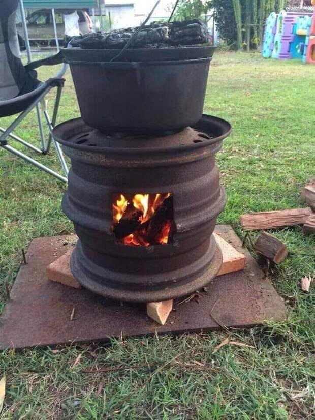 Странные и просто необычные самодельные дровяные печи и горелки