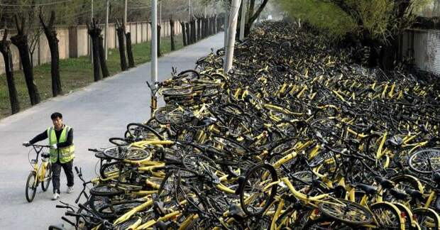 Почему китайцы начали массово отказываться от использования велосипедов