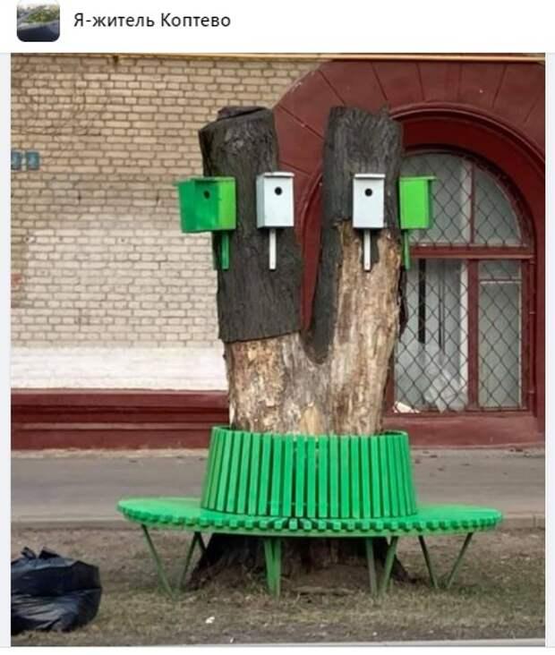 На Коптевской улице появились креативные скворечники