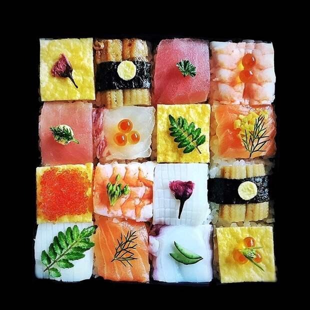 Мозаика из суши — новый кулинарный тренд, завоевавший сердца японцев