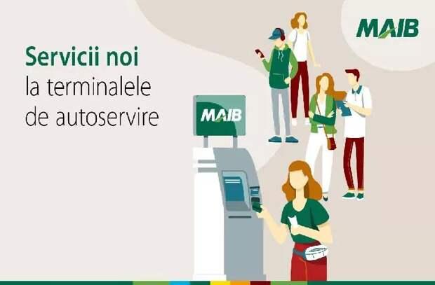 Терминалы самообслуживания MAIB: Больше услуг, быстрее и удобнее