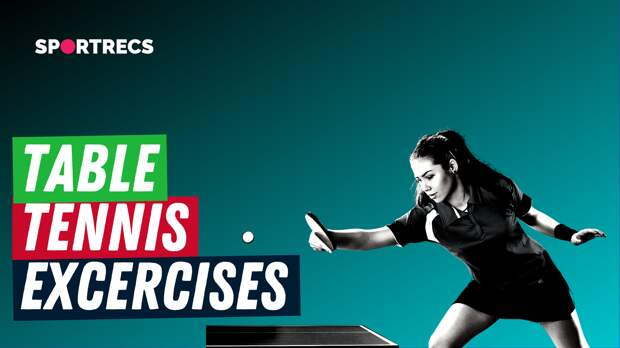 Table tennis. Exercises