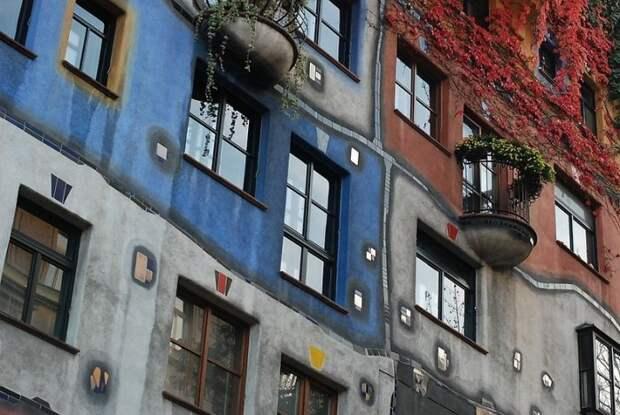 Необычная архитектура Фриденсрайха Хундертвассера (Friedensreich Hundertwasser)