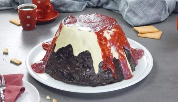 Торт Вулкан без выпечки