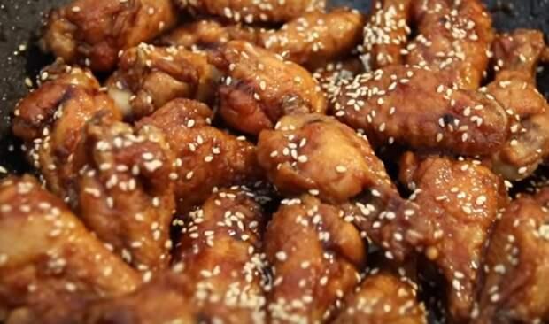 Острые куриные крылышки по-корейски