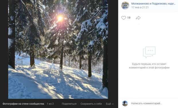Фото дня: морозное утро в Подрезкове