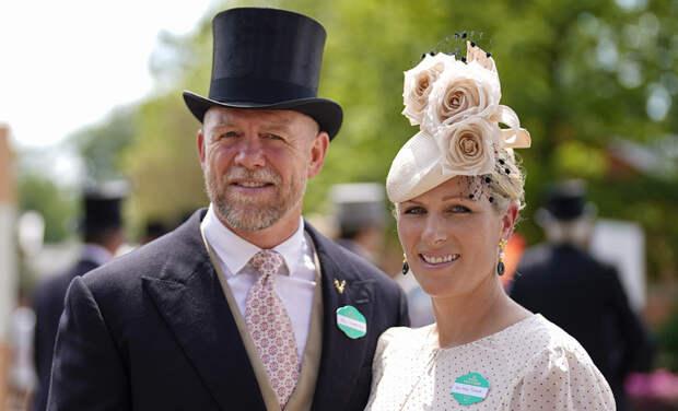 Внучка Елизаветы II Зара Тиндалл и Майк Тиндалл посетили скачки Royal Ascot