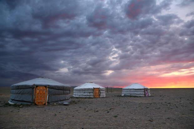 Восход в пустыне Гоби, Монголия красота, путешествия, фото