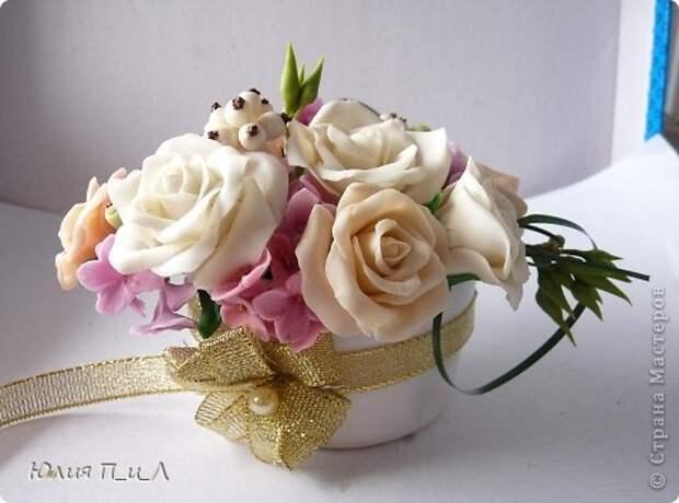 Мастер-класс,  Лепка, : Розовые «секреты» и не только…МК Фарфор холодный День рождения, . Фото 6