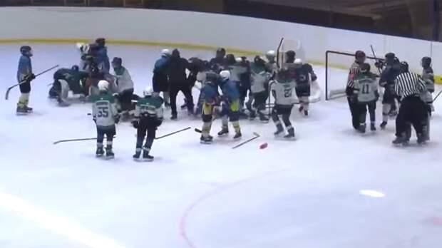 НаУкраине хоккейный тренер набросился на11-летних игроков вовремя матча: видео