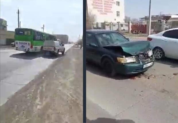 Разбил монтировкой стекло и поливал машину бензином - житель Атырау устроил боевик на дороге