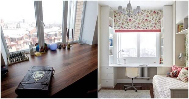 Отличные идеи для стола-подоконника: функциональное решение для тех, кто ценит каждый сантиметр