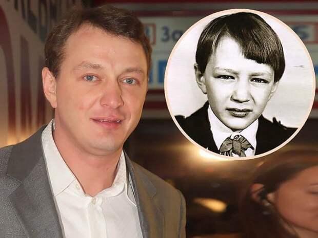 Марат Башаров в наши дни и в школьные годы   Фото: teleprogramma.pro