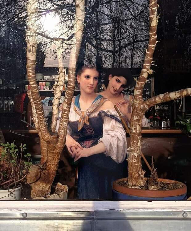 Нимфа вплацкарте идругие коллажи Алексея Кондакова