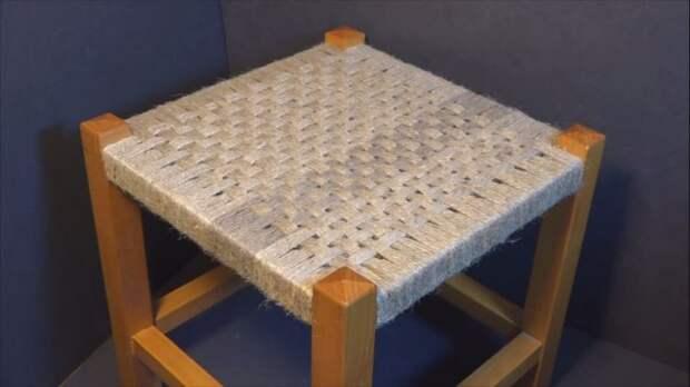 Плетеный стульчик своими руками