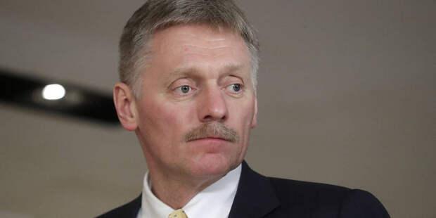 Песков прокомментировал встречу Макрона и Тихановской
