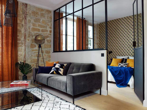 Небольшая квартира с атмосферой лофта в центре Парижа