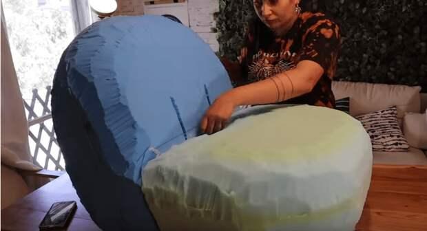 Дизайнерское кресло в домашних условиях без инструментов и за несколько часов