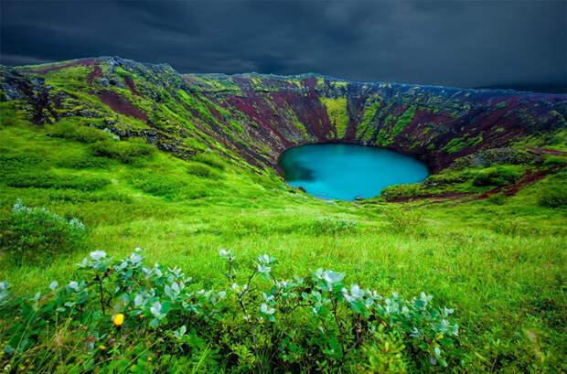 Озеро Керид. Исландия