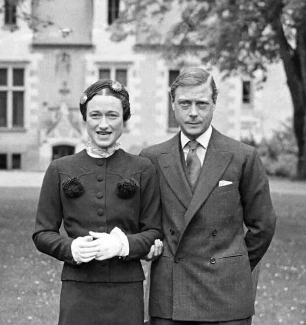 Уоллис Симпсон с королем Эдуардом VIII