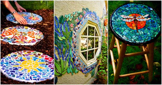 14 ярких мозаик, которые можно создать во дворе своими руками