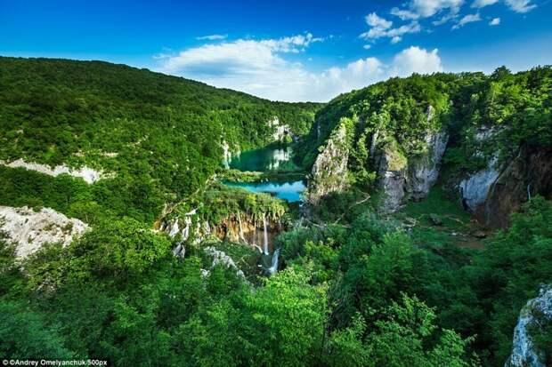 Плитвице, Хорватия европа, красоты, национальные парки, природа