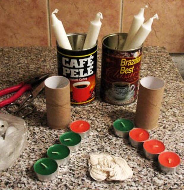 Материалы и инструменты для свечей своими руками