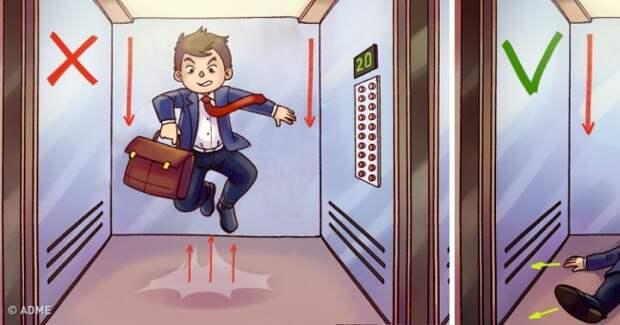 Как выбраться живым из падающего лифта