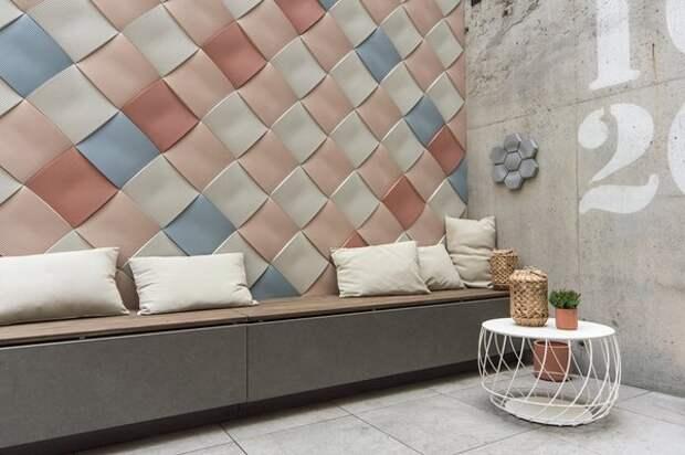 Плитка Weave, Note Design Studio для Kaza Concrete
