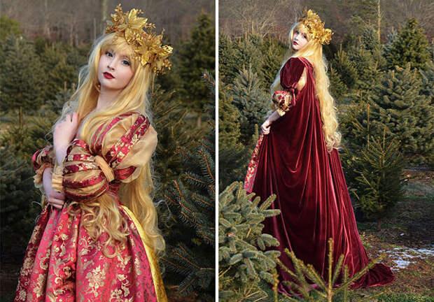 18-летняя девушка шьет фантастические платья, которым место в сказочных мультфильмах...