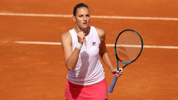 Каролина Плишкова победила Мартич и стала первой финалисткой турнира в Риме